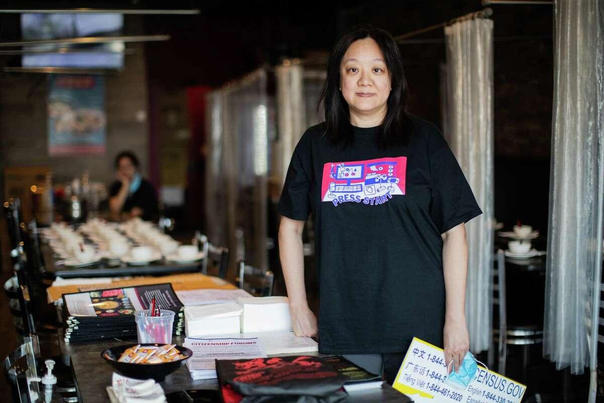 Deborah Chen, director at OCA-Greater Houston and community organizer, Friday, Aug. 13, 2021, in Houston.