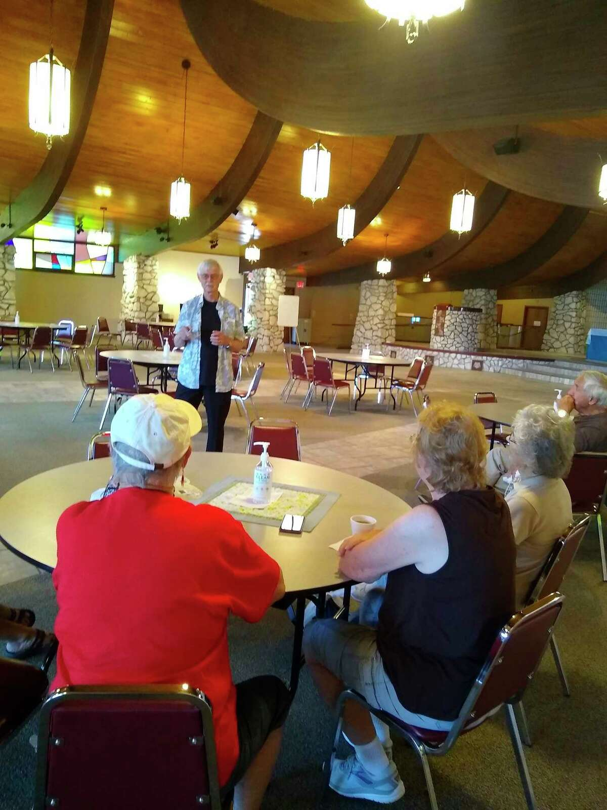 L.A. based comedian, Bob Ooten makes an appearance at the Wagoner Community Center, entertaining guests after their lunch Friday afternoon. (Courtesy Photo)