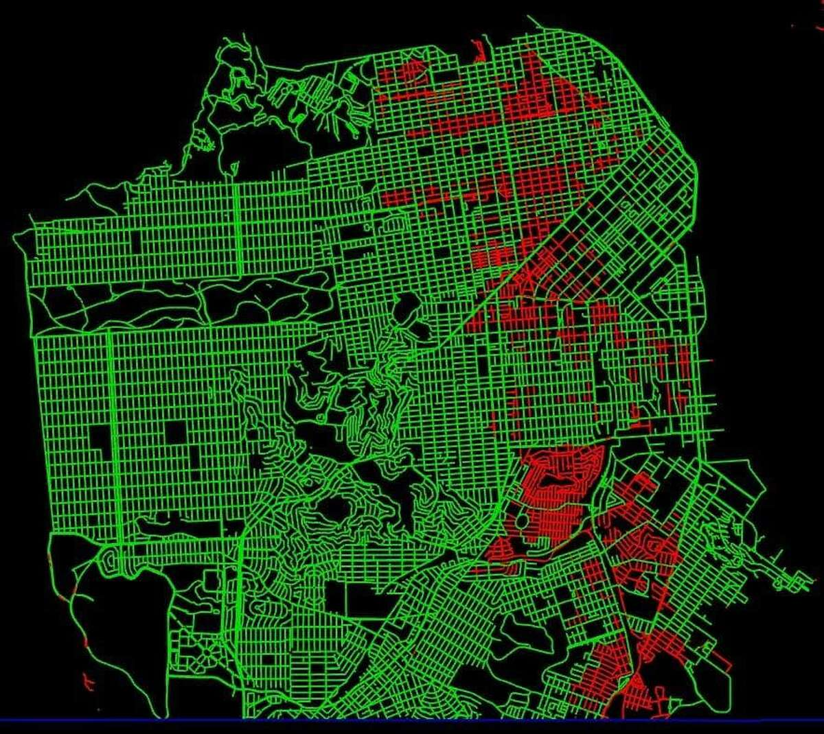 Completing 84% of San Francisco as seen on StreetFerret on March 27.