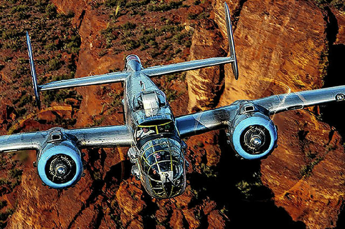The B-25 bomber Maid in the Shade will land Monday at Abraham Lincoln Capital Airport in Springfield for a week of tours and living history flights.