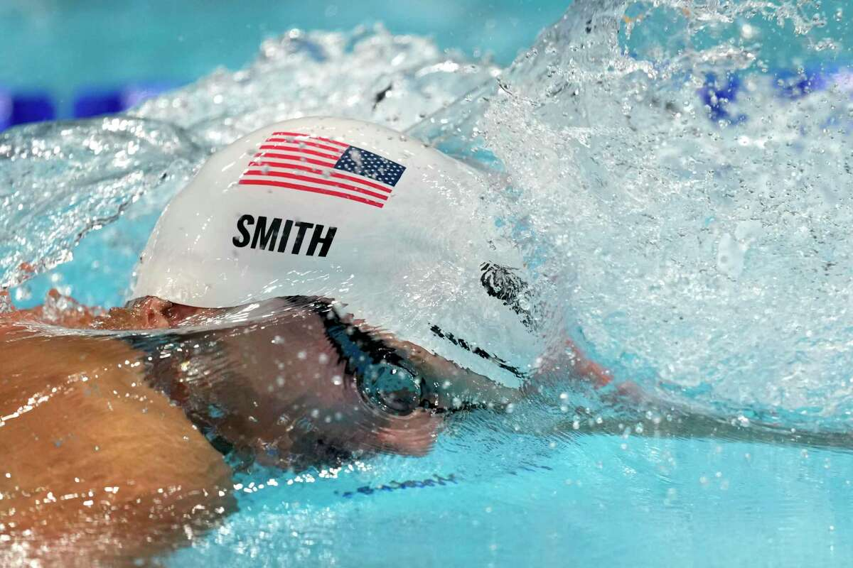 Kieran Smith, of Ridgefield, swims at the 2020 Summer Olympics in Tokyo.