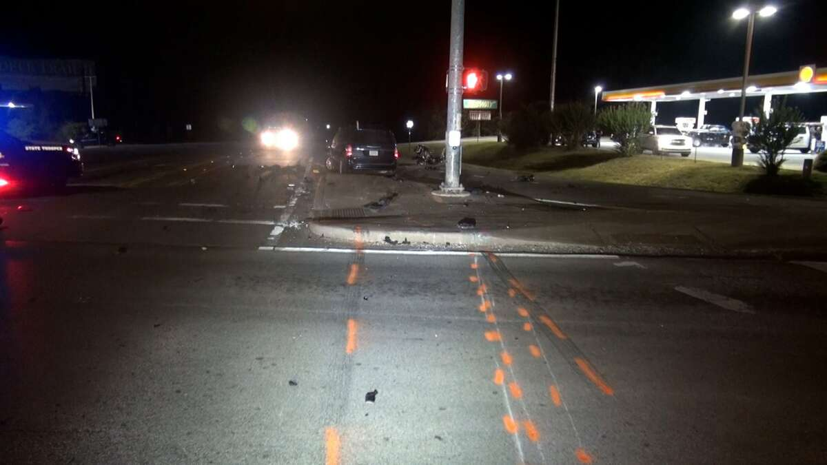 Authorities investigating a non-fatal crash Friday night in Conroe in which a motorcyclist was seriously injured.