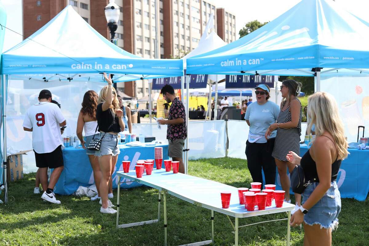 Caption: The Hey Stamford! Food Festival kicked off its first of two weekends on Aug. 12-15, 2021 at Mill River Park in downtown Stamford.. The event features 100 handpicked food and beverage vendors, and on Saturday, Aug. 14, a performance by R&B musician, Nelly. Were you SEEN?