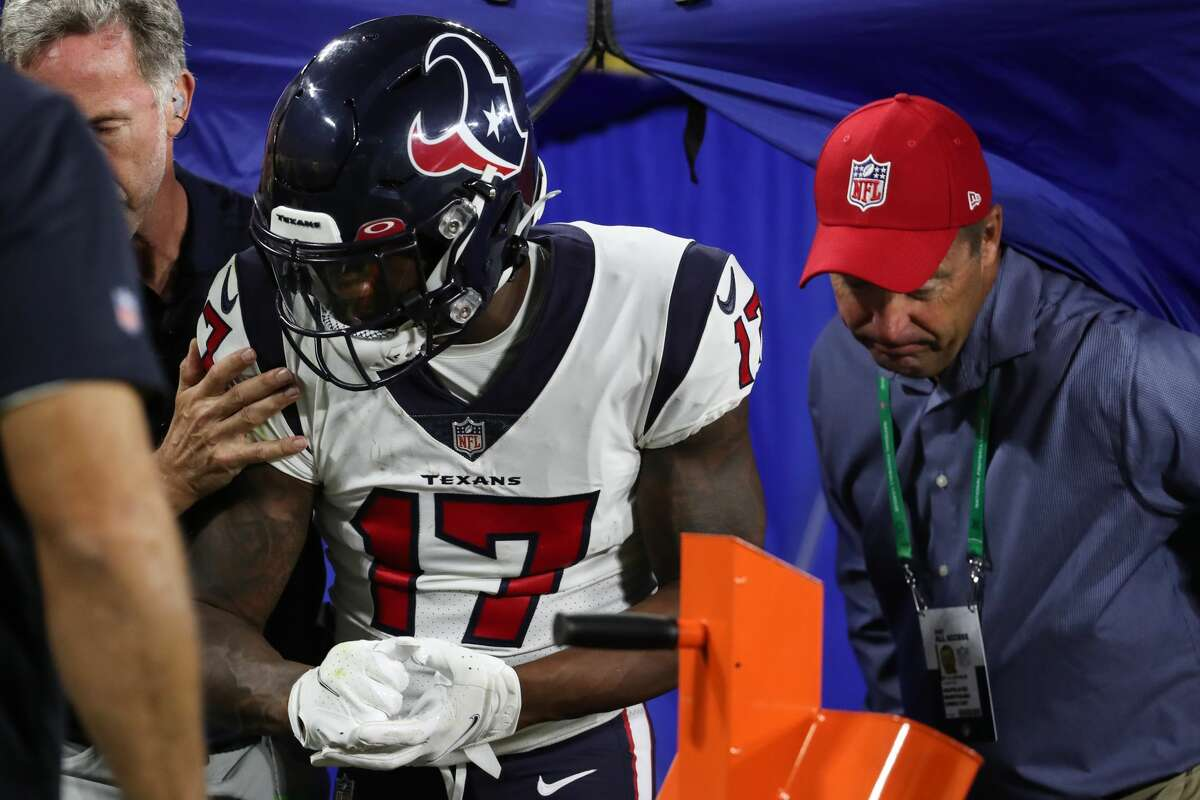 New Texans receiver Anthony Miller was injured in the preseason and is expected to play again at some point during the regular season, although it's not known when.