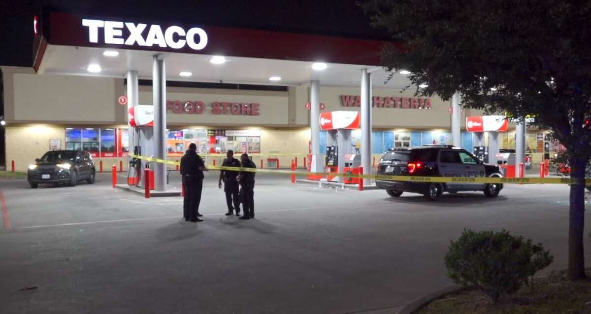 Two men were shot at a Texaco gas station on the northside of Houston early Sunday morning.