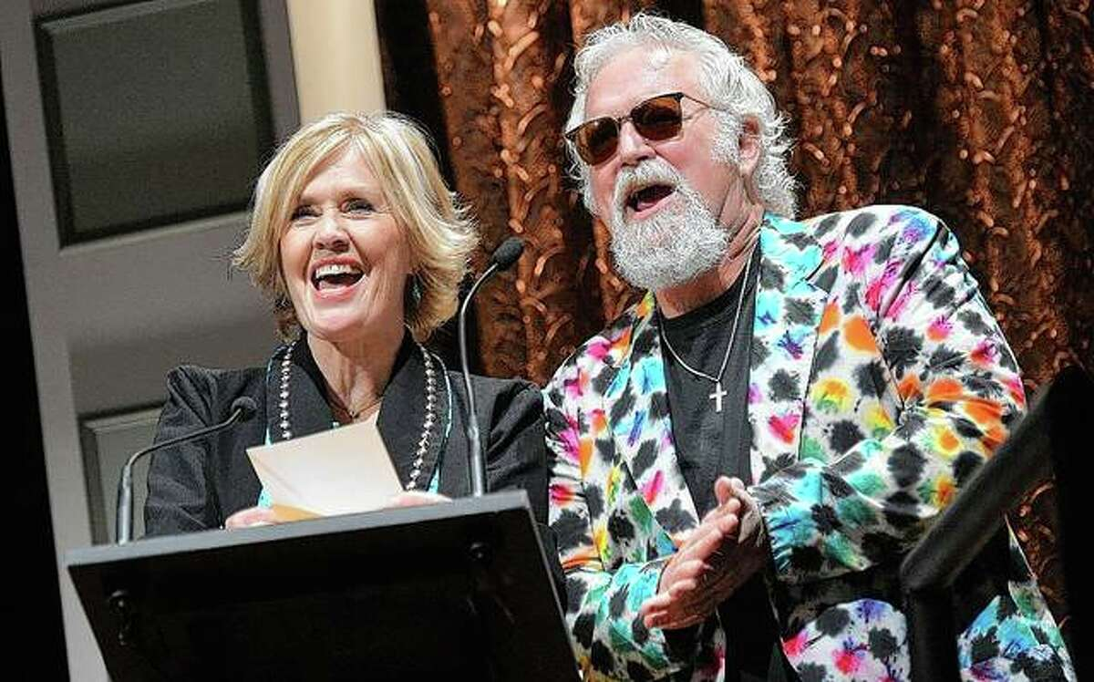 Janie Fricke and T. Graham Brown present awards at the Inspirational Country Music Awards.