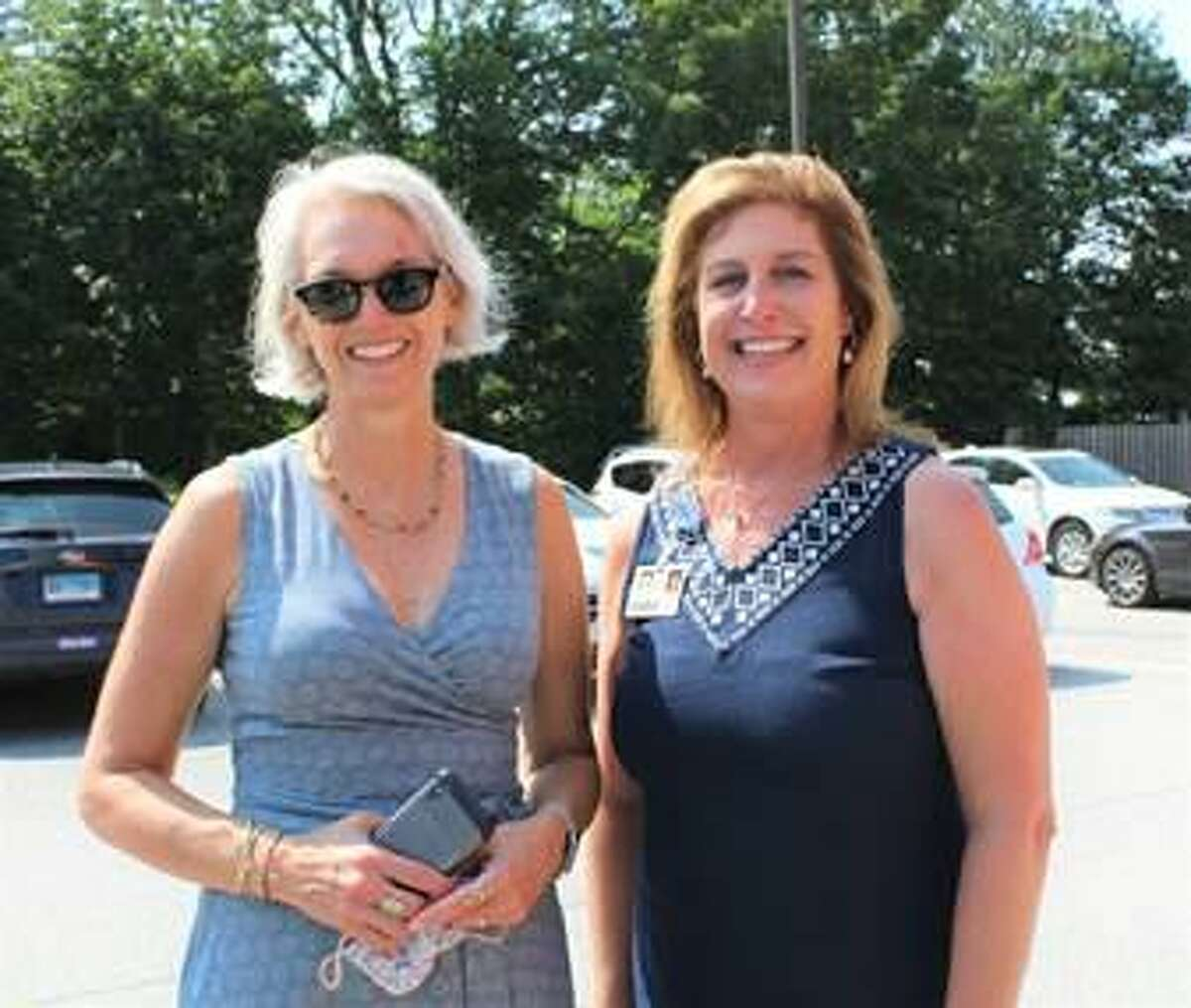 Community Health & Wellness Center in Torrington and Winsted held a community celebration Aug. 11, in recognition of National Health Week. Pictured are state Rep. Maria Horn, D-Salisbury, left, and CHWC CEO Joanne Borduas.