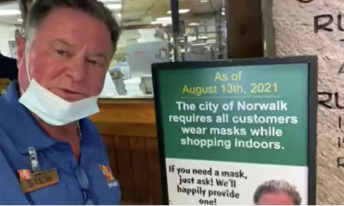 In a Facebook video, Stew Leonard Jr. explains the renewed mask requirements in his Norwalk and Danbury stores.