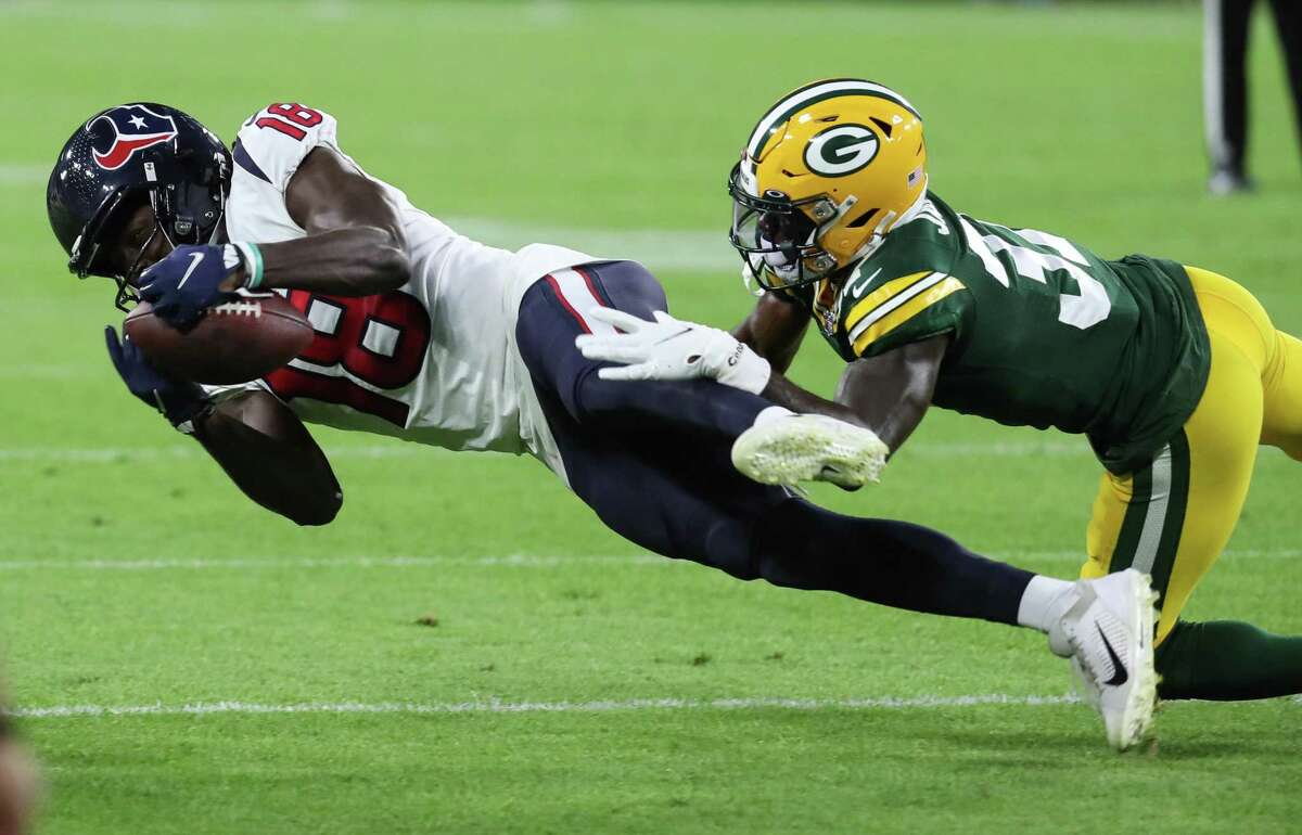 Chris Conley caught four passes for 51 yards in his preseason debut with the Texans.