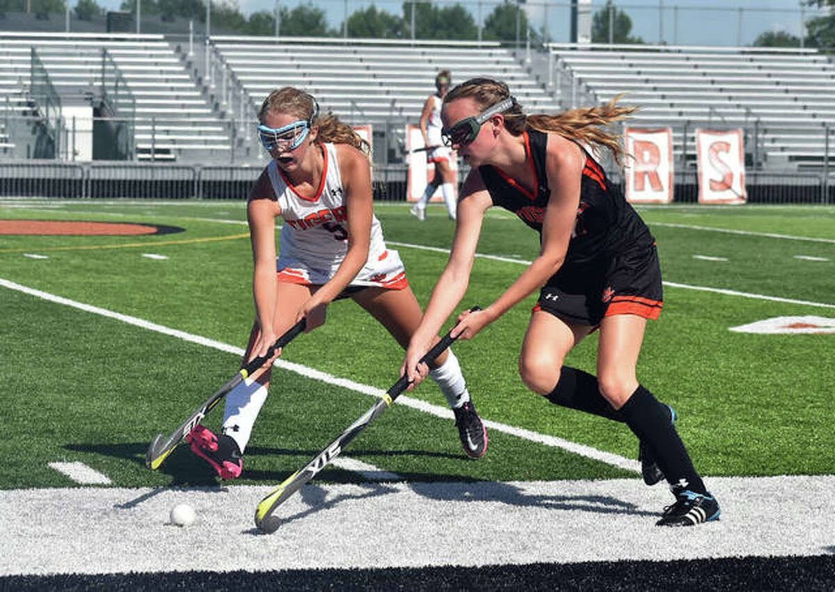 The Edwardsville field hockey program hosted its preseason scrimmage with a pair of games on Saturday inside the District 7 Sports Complex. The Tigers will play in the St. Joseph's Jamboree on Saturday in exhibition before officially opening the season at John Burroughs on Aug. 27.