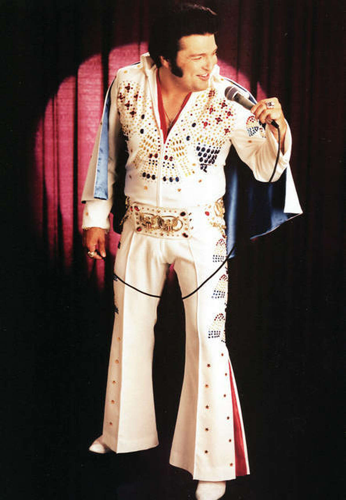 """Steve """"Elvis"""" Davis will perform in Alton on Tuesday, Aug. 17 at 7 p.m. at the Robert Wadlow Statue, 2810 College Ave., in Alton."""