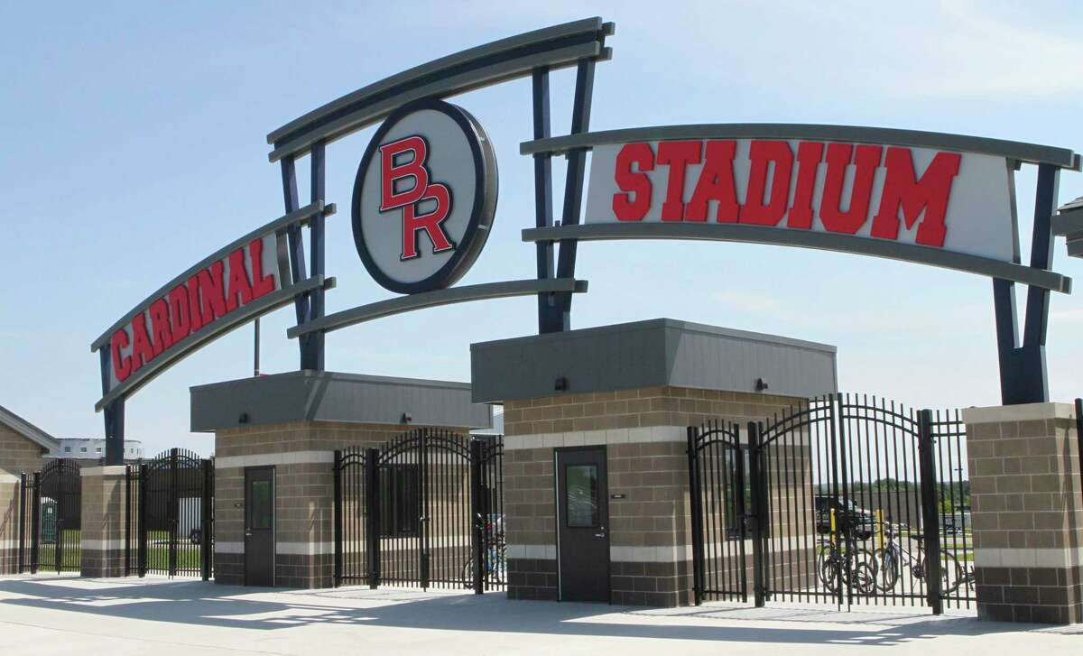 The main entrance to Cardinal Stadium will soon be a place where the community can gather. (Pioneer photo/Joe Judd)