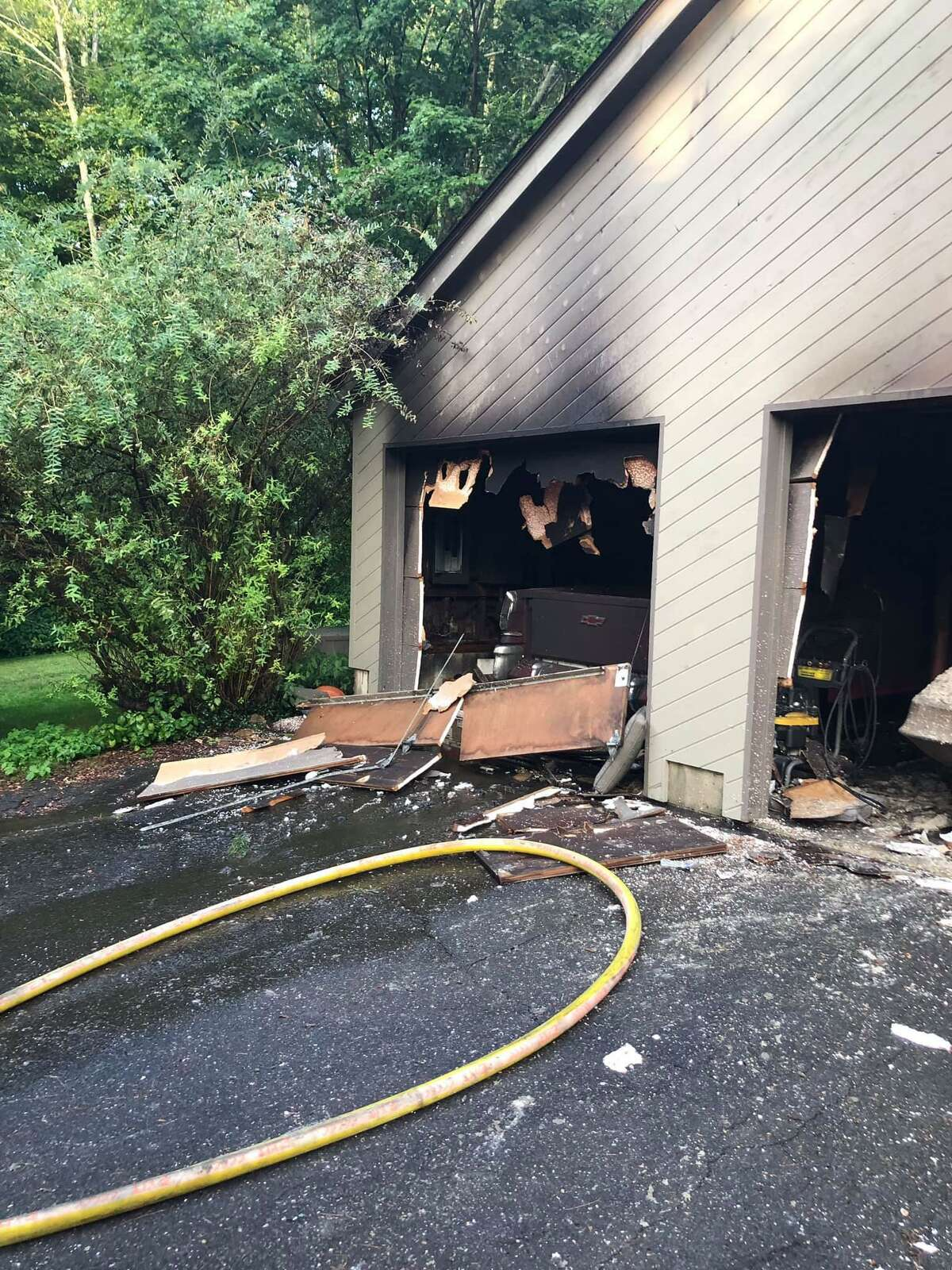 East Haddam firefighters extinguished a blaze on Stockburger Road Saturday, according to the department.