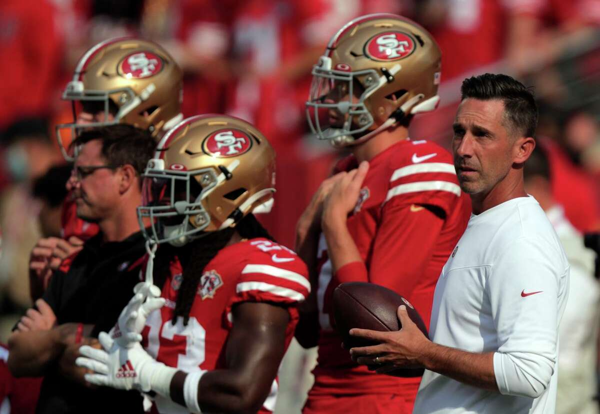 Head coach Kyle Shanahan was excited after Trey Lance, making his professional debut, completed 5 of 14 passes for 128 yards and led two scoring drives in a 19-16 loss to the Chiefs.