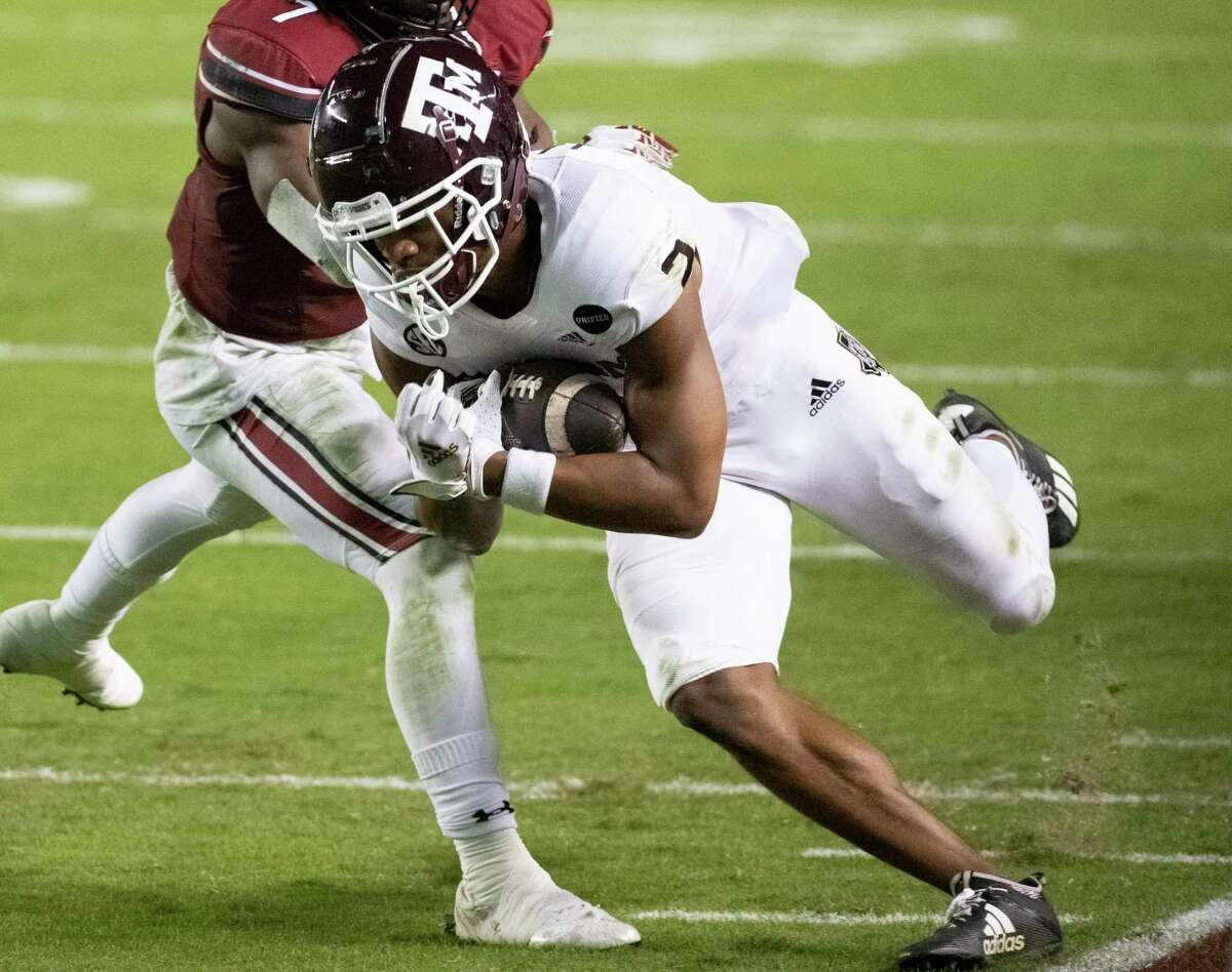 Third-year sophomore Chase Lane is trying to build on a 2020 season in which he finished third in receiving yards for Texas A&M with 409.