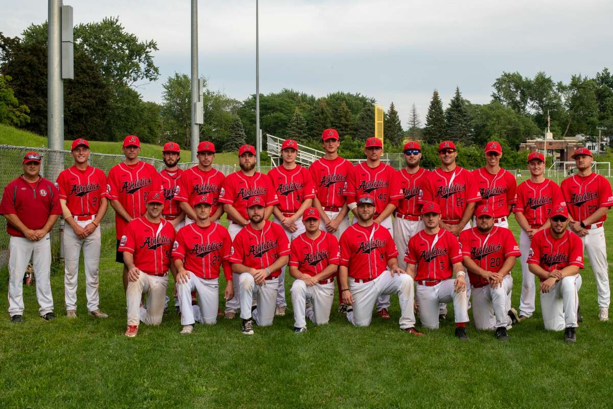 The 2021 Albany Athletics, the first team in Albany Twilight League History to finish the season undefeated, at the AABC Stan Musial Northeast World Series in Weymouth, Mass. The A's finished runner-up at the World Series.