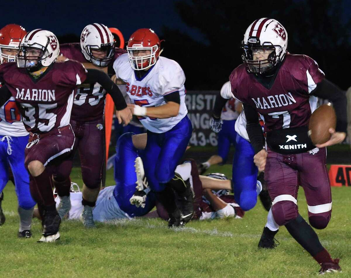 Mason Sailsbury (7) is set to have another top notch 8-player football season for Marion. (Courtesy photo)