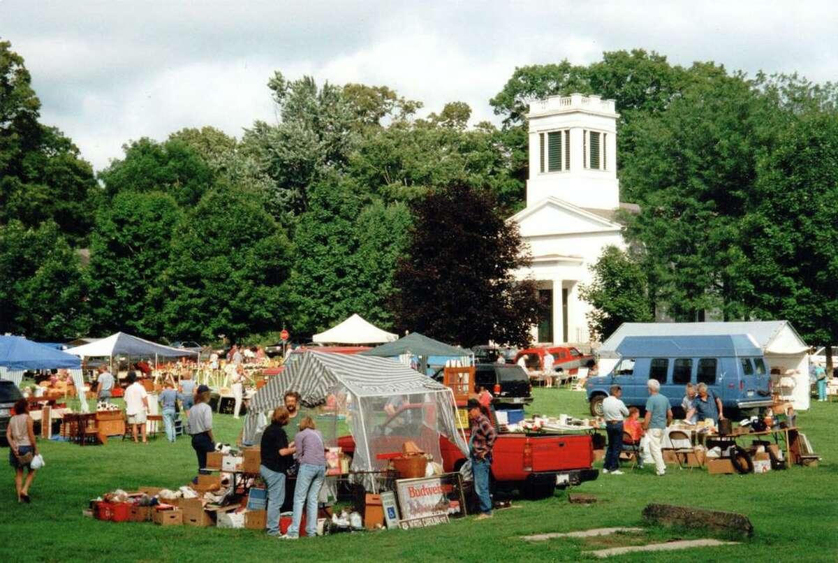 Scene from a past Deep River Congregational Church Flea Market.