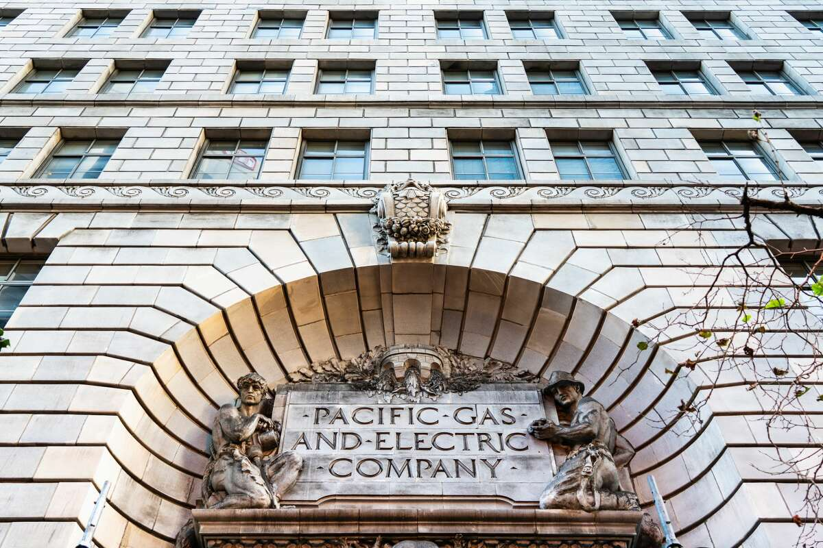 The exterior of the Pacific Gas and Electric Company historical headquarters in downtown San Francisco.