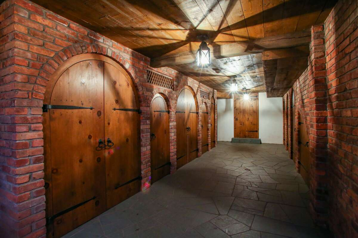 The home on 93 Amenia Union Road in Sharon, Conn. has a wine cellar in the lower level of an adjoining residence.