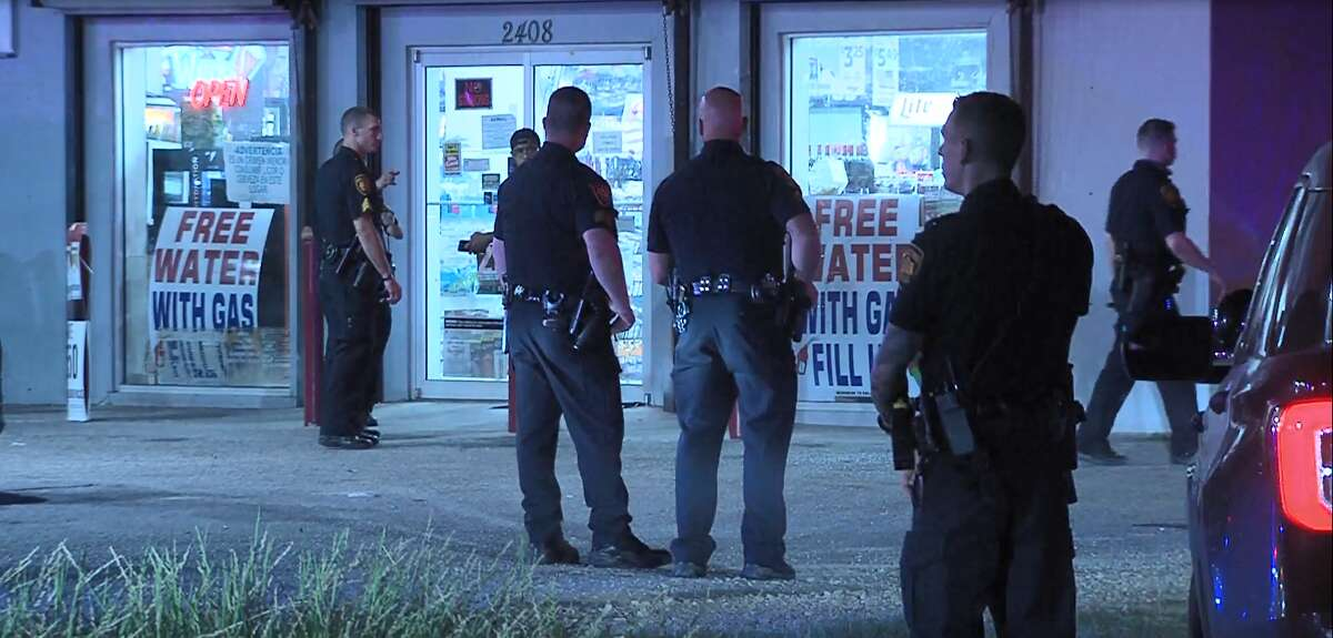 A man hit and killed a 56-year-old man with a vehicle during a carjacking attempt Saturday at a Southeast Side gas station, according to San Antonio police.