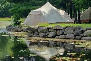 Glamping tents at the ready for the first-ever Hudson Valley #HempDay in Stuyvesant. (Courtesy: Jenny's Green Garden)