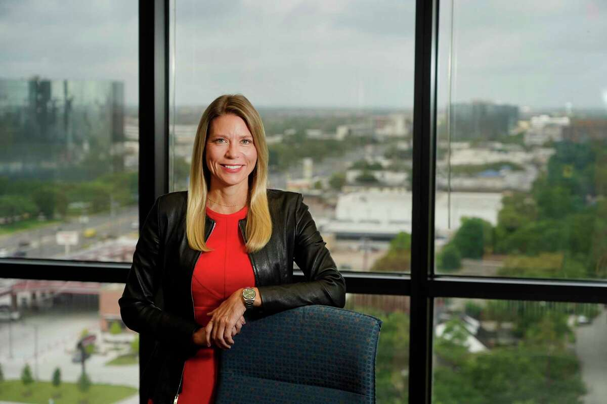 Leslie Beyer, CEO of the Energy Workforce and Technology Council, is shown Wednesday, June 23, 2021 in Houston.