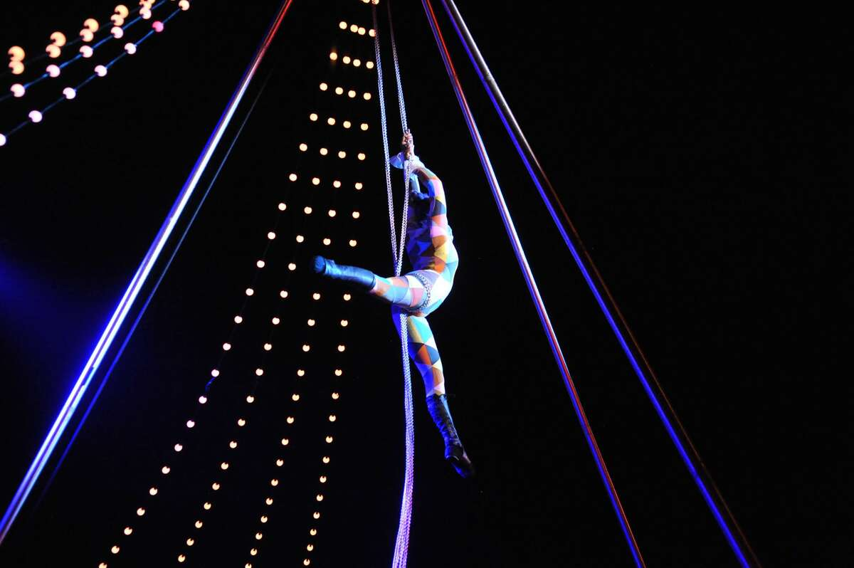 """A scene from Hideaway Circus' production of """"Stars Above,"""" being performed in Prospect Park in Troy from Aug. 19 to 21 and Lumberyard Center for Film and Performing Arts in Catskill Aug. 24 and 25."""