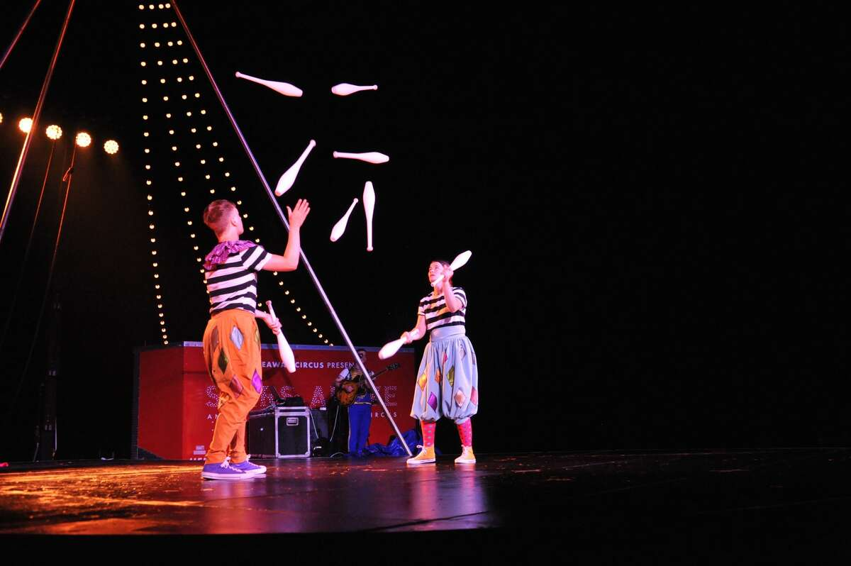 """A scene from Hideaway Circus' production of """"Stars Above,"""" being performed at Prospect Park in Troy from Aug. 19 to 21 and Lumberyard Center for Film and Performing Arts in Catskill Aug. 24 and 25."""