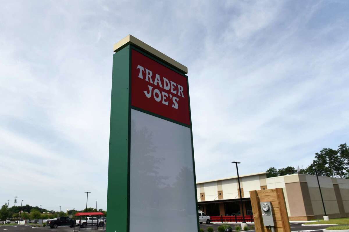 Exterior of the new Trader Joe's supermarket which plans to open in this fall on Monday, Aug. 16, 2021, at Halfmoon Crossing in Halfmoon, N.Y. The store says its opening Sept. 8.