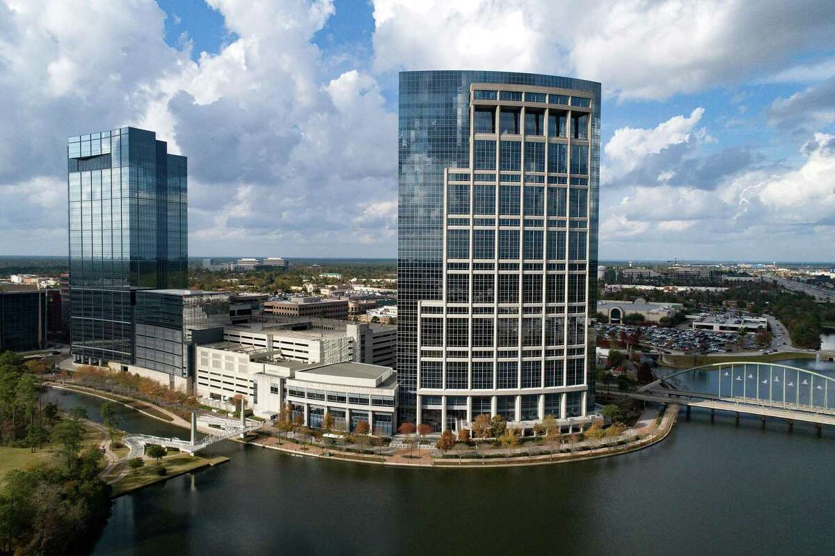 Office buildings along the Woodlands Waterway in The Woodlands in 2020. The Woodlands Township board agreed during a special meeting to place the question of incorporation on the November 2021 ballot.