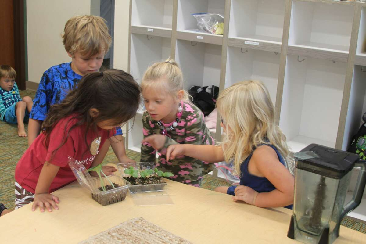 In this file photo from 2017, children examine some plant life at the Next Generation Learning Center. A resolution is set to go before the Little River Band of Ottawa Indians' Tribal Council Wednesday which would restrict enrollment to the Next Generation Learning Center to native children alone.