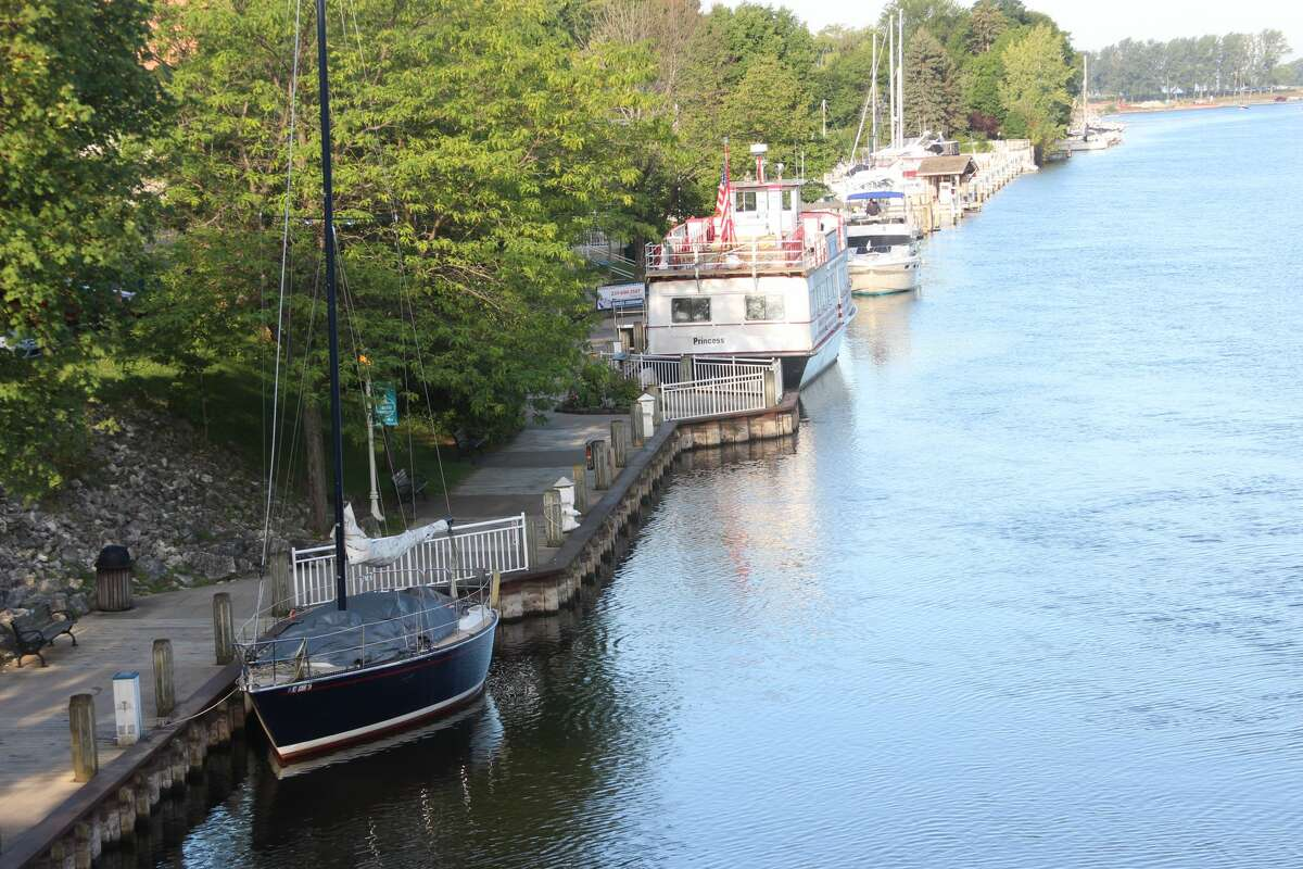 Sights on the water and downtown Manistee early morning on Aug. 16, 2021.