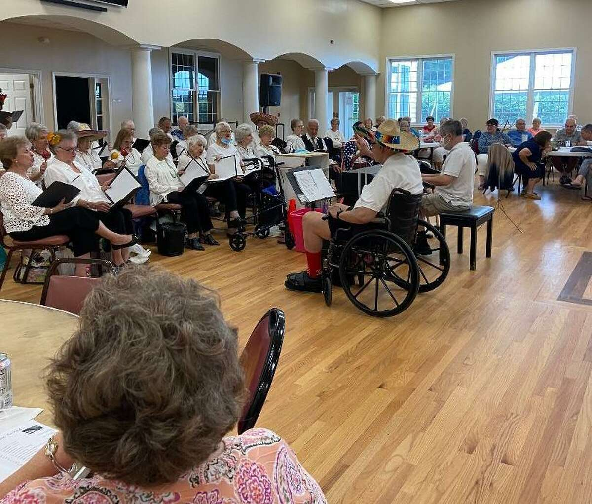 The Shelton Songsters were back in full force July 23, at the Shelton Senior Center. The chorus held its first concert since prior to the pandemic.