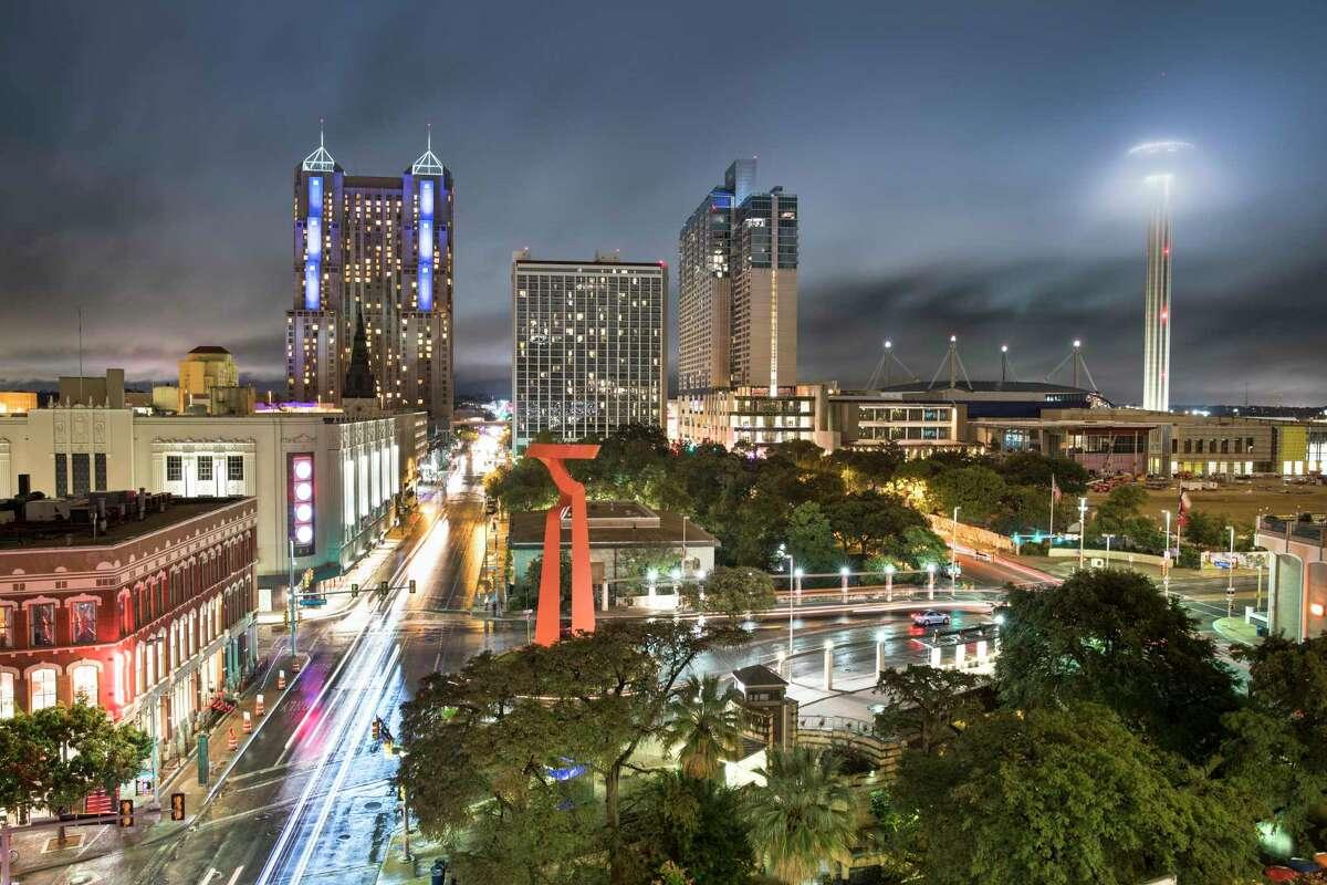 Downtown San Antonio's bright nighttime lights often claim migratory birds' lives.
