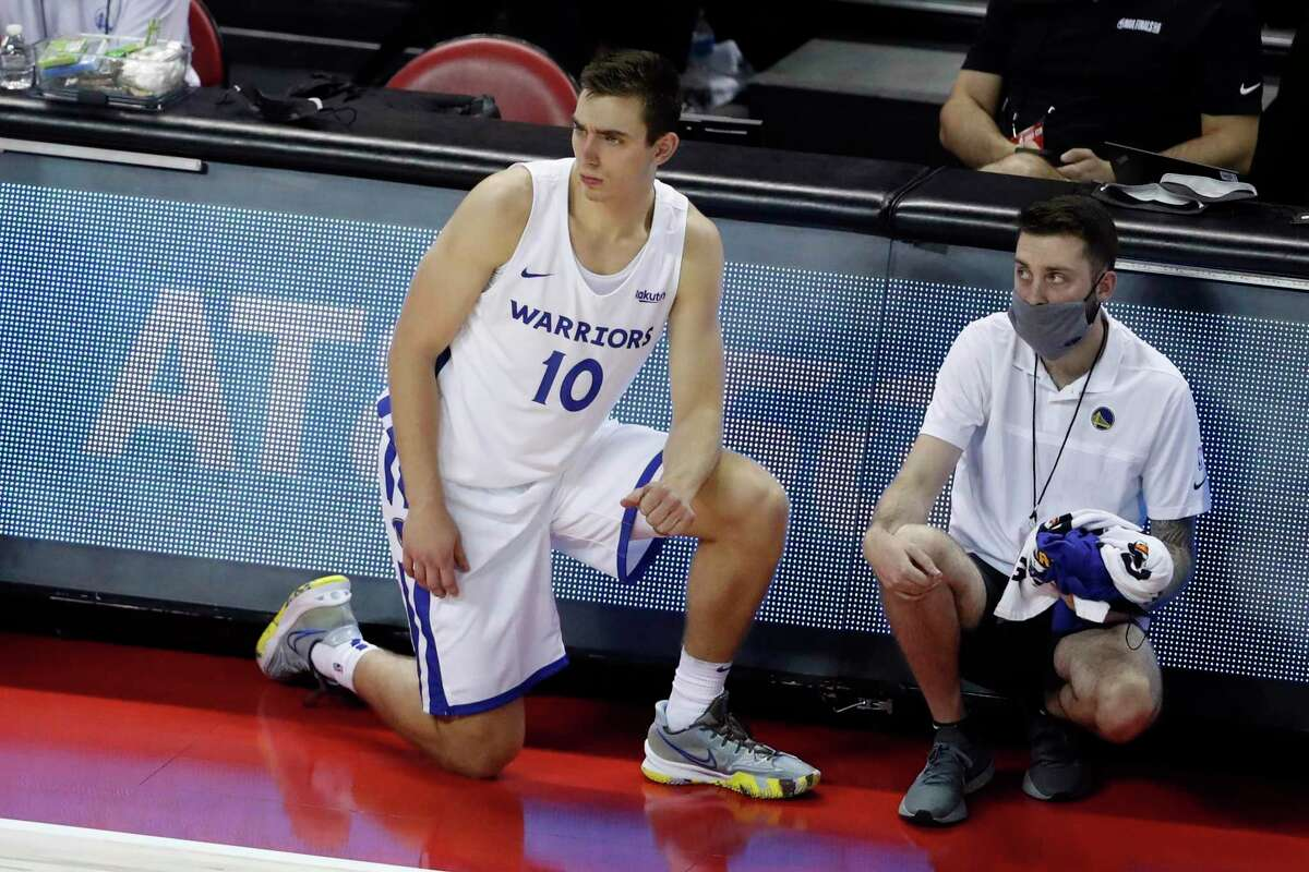 Justinian Jessup and the Warriors will face the Lakers in an NBA Summer League game in Las Vegas at 4 p.m. Tuesday. (ESPNews)
