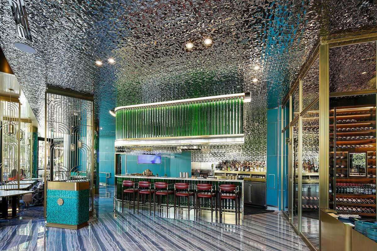 Inside JiuBa, the downstairs cocktail bar at iChina in Santa Clara.