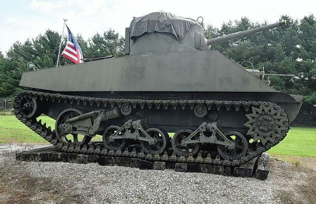 This tank will be auctioned off this month as a part of a downsizing effort by Holmes.