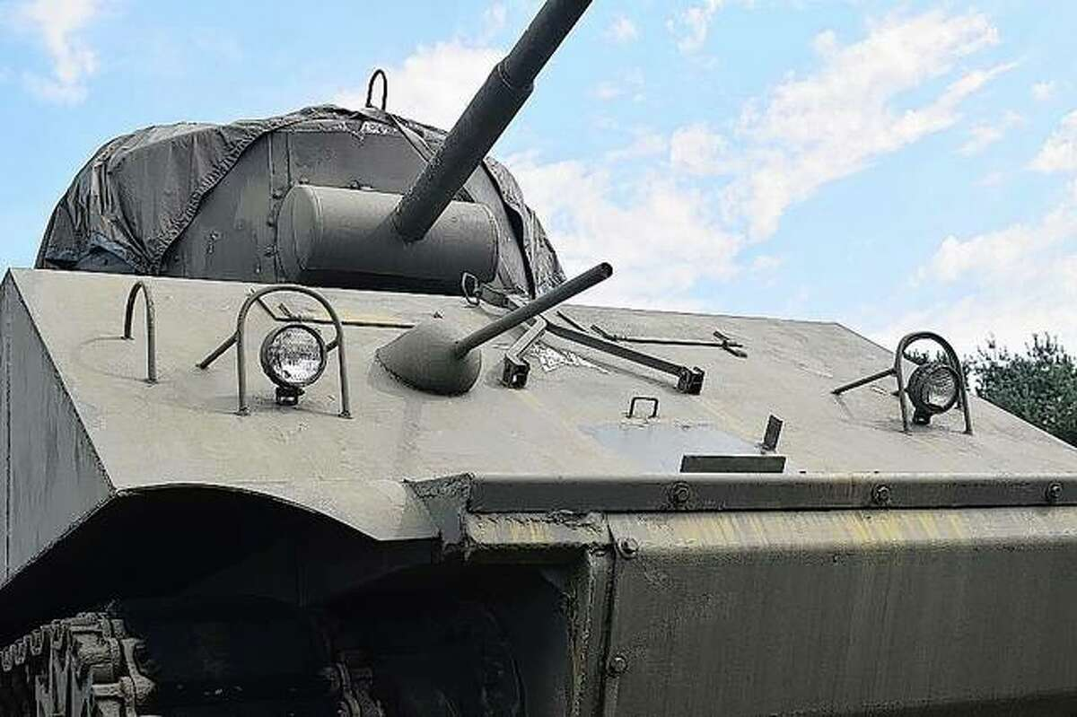 The tank is a World War II-era tank.