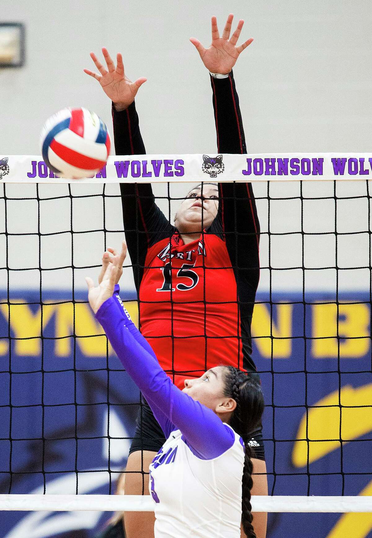 Martin's Melanie Duron leads the city with 15.3 kills per game and is tied for second with 12 digs.