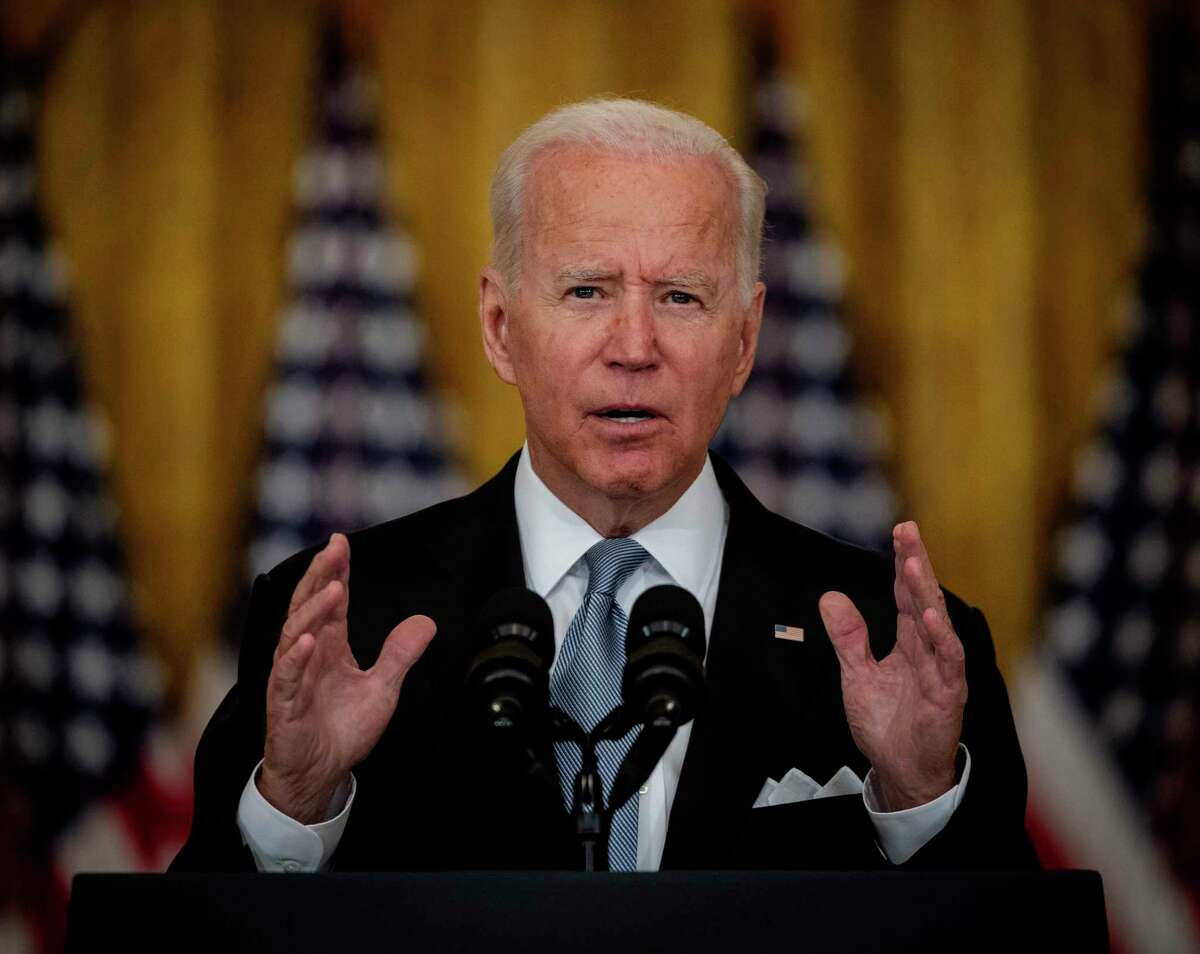 President Joe Biden delivers remarks Monday on the situation in Afghanistan at the White House.