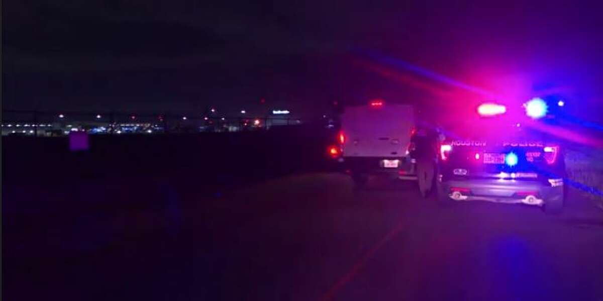 Police at the scene of a fatal auto-pedestrian crash early Tuesday in southeast Houston.