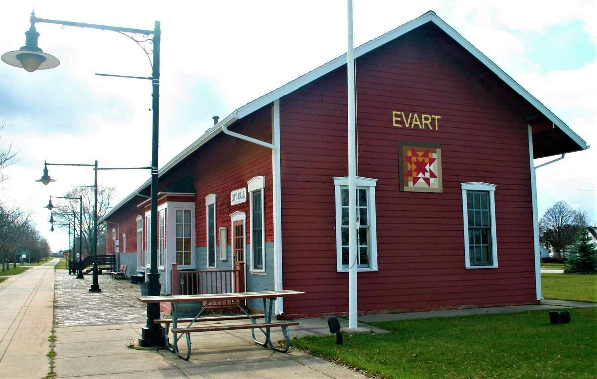 Evart city offices are set to return to the Depot building on Aug. 24, where services will resume after four years of being relocated to the building at the airport. (Herald Review file photo)
