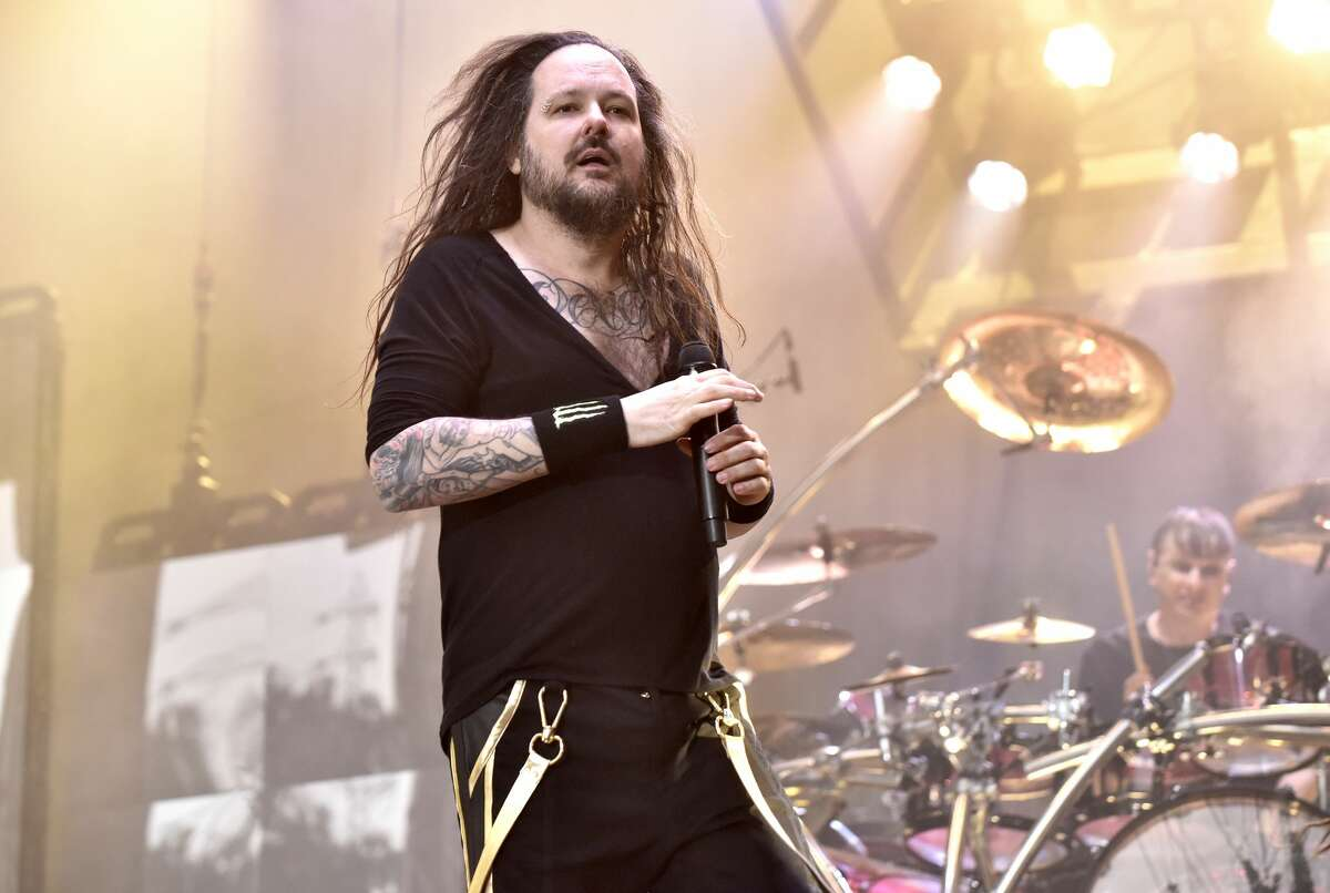 Jonathan Davis of Korn performs during the 2019 Aftershock Music Festival at Discovery Park on October 13, 2019 in Sacramento, California.