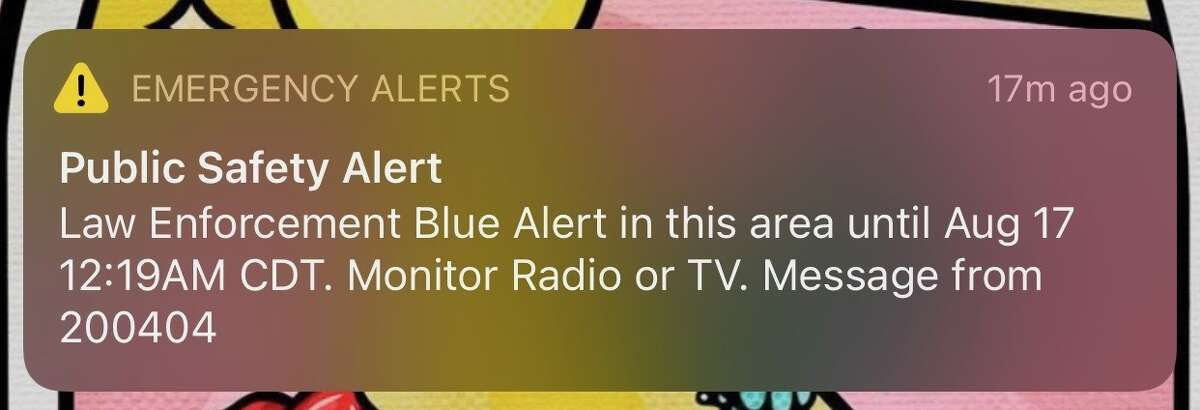 Texas residents received a blue alert late Monday night providing few details of the emergency.
