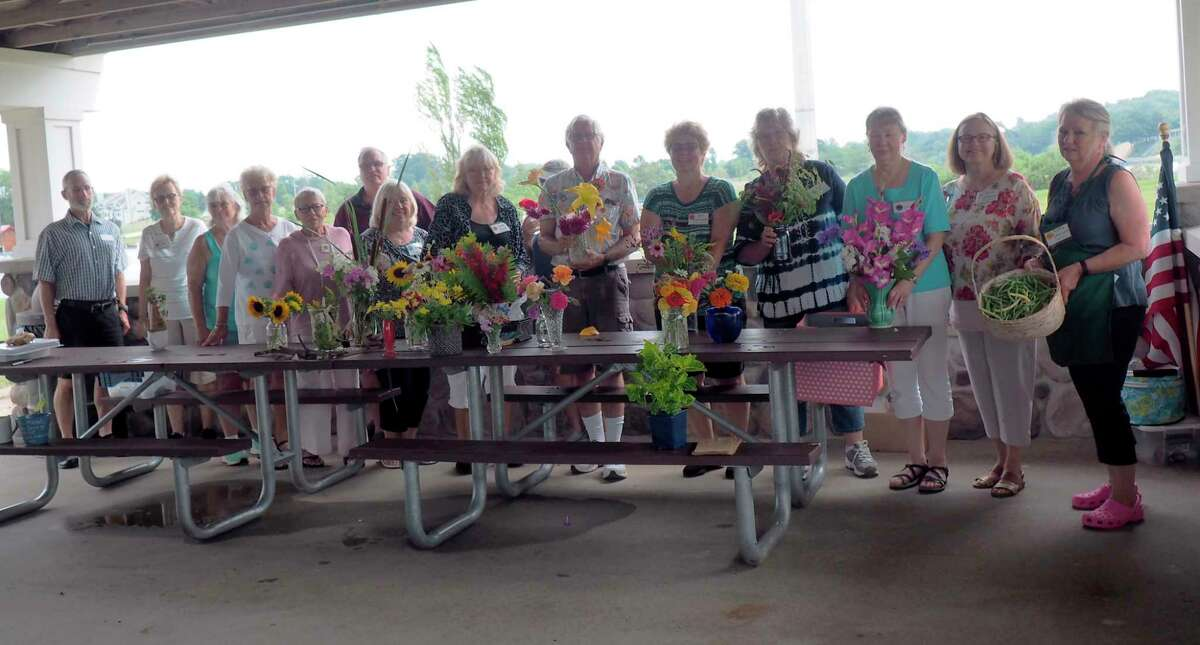 Members ofSpirit of the Woods Garden Club, Inc.met onAug. 9 at the Lion's Pavilion at First Street Beach. (Courtesy photo)