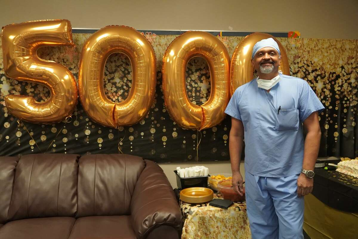 Dr. Kirit Patel completed his 5,000th open heart case at Midland Memorial Hospital last week.