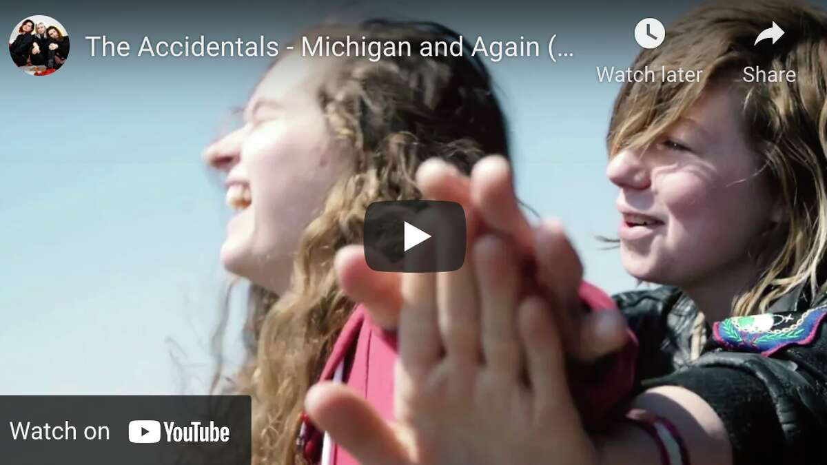 A screen shot from The Accidentals video on YouTube.
