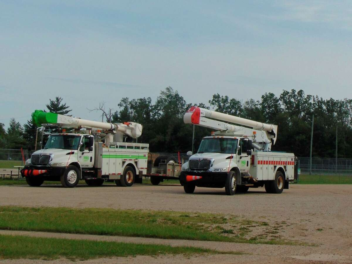 Utility workers could be seen throughout the county this past week, working diligently to restore power. (Star photo/Shanna Avery)