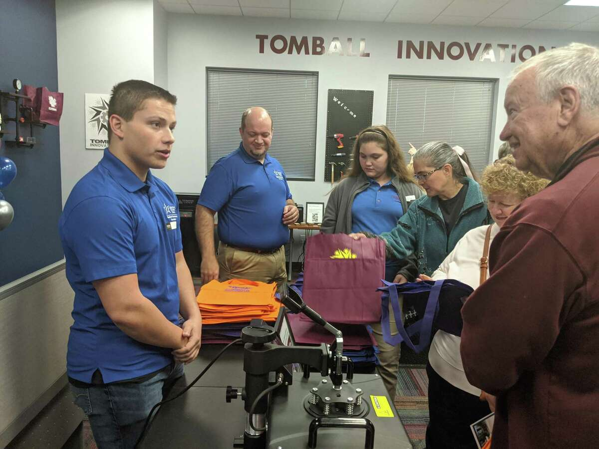 Precinct 4 Encore! will tour the Tomball Innovation Lab at the Lone Star College-Tomball Community Library on Aug. 26. Shown here, officials, residents and students attend the grand opening of Lone Star College-Tomball Library's innovation lab in January of 2020.